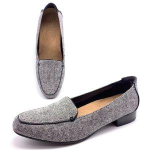 Clarks Keesha Luca 10M Black Tweed Combo Loafers